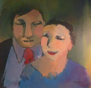 Couple - Acrylique sur toile 2013 - 0,60mx0,60m