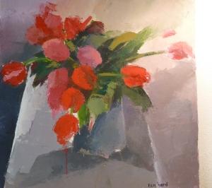 2013- Tulipes sur la Table - 0,60mx0,60m