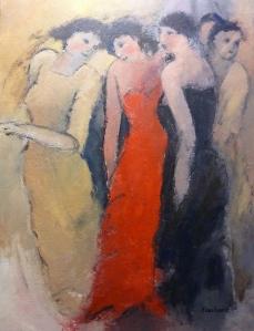 Soirée de Femmes Acrylique sur toile 2015 60x80cm