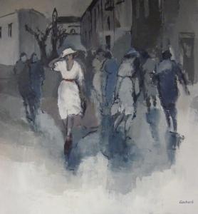 2015 - Acrylique sur toile - 80x80cm - La Femme en    Blanc