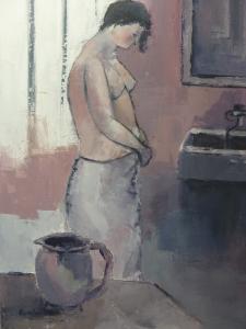 2015 - Acrylique sur Toile - 50x70cm - Femme à sa Toilette