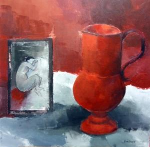 Poterie Rouge Acrylique sur toile 2016 80x80cm