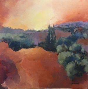 2016 Provence Acrylique sur toile 80x80cm