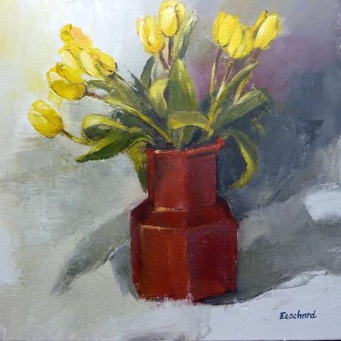 2016 Tulipes Jaunes 50x50cm