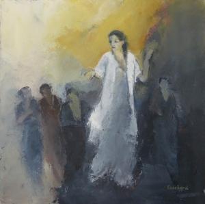 2016 Acrylique sur toile Une Femme 60x60cm