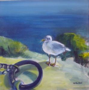L'oiseau - Acrylique sur toile - 50/50cm - 2003