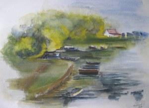 Bords de Saône - Aquarelle sur papier - 2008