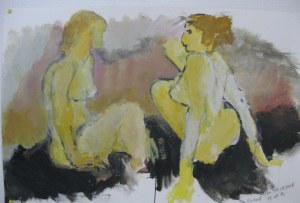 Discussion - croquis sur papier - 60/55cm - 2007
