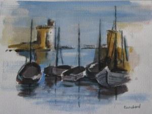 port de La Rochelle - Aquarelle sur papier - 13/18cm - octobre 2008