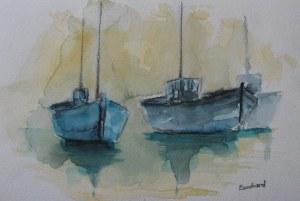 Bateaux - Aquarelle sur papier - 20/30cm - octobre 2008