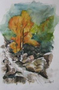 L'arbre - aquarelle sur papier - 20/30cm - octobre 2008