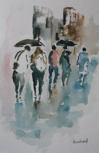 Sous la pluie -