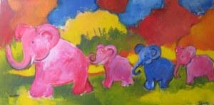 En marche - Acrylique sur toile - 40/80cm - mai 2008