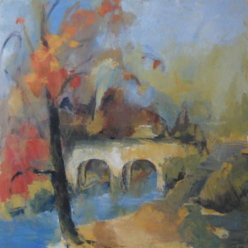 Simandre S/Suran- Le Pont - Acrylique sur toile - 1/1m - novembre 2008