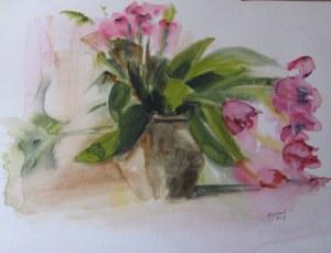 Tulipes - Aquarelle 2009 - 50/65cm