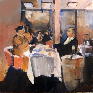 Le restaurant - Acrylique sur toile- 60cmx60cm - 2009