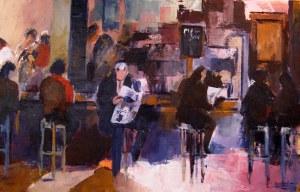 Le bar- Acrylique sur toile- 1mx0,65m - 2009