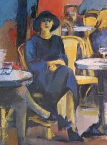 Femme au café - Acrylique sur toile 2009