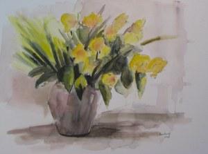 bouquet - aquarelle 2009 - 50/65cm