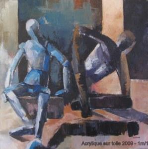 Méditation - Acrylique sur toile 2009 - 1/1m