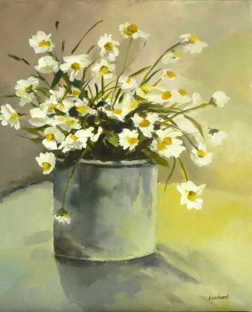 MargueritesAcrylique sur toile 2012