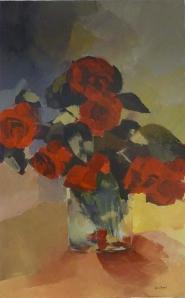 Les Roses de La PlaceAcrylique sur toile 2012