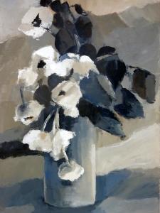 Roses de NoëlAcrylique sur toile 2012