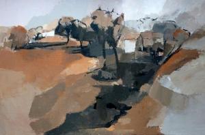 Paysage du BugeyAcrylique sur toile 2012
