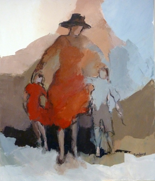 Femme et enfantsAcrylique sur toile 2013