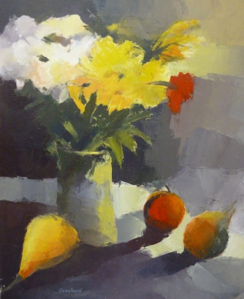 Bouquet et Fruits 60x73cm - 2014