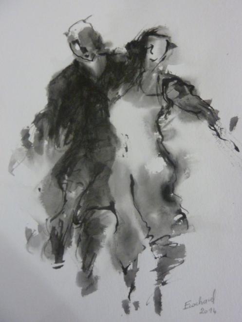 Dessin encre de chine sur papier 2014