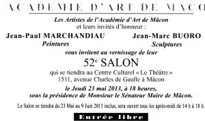 Invitation Salon de Mâcon 2013