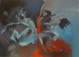 Danse Acrylique sur toile 2013