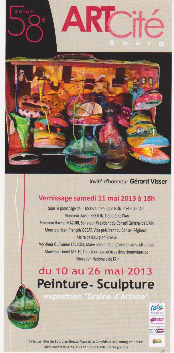 L 39 art sur la toile fen tre ouverte sur le travail de marie ecochard page 6 - Salon de la gastronomie bourg en bresse ...