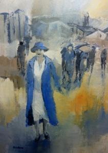 La Femme en Bleu 65x92cm
