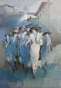 Femmes aux Chapeaux Acrylique 2016 100 x 70cm