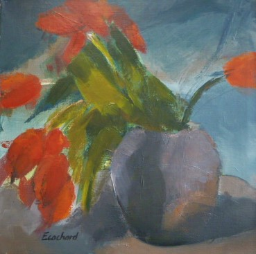 Tulipes Rouges 40x40cm